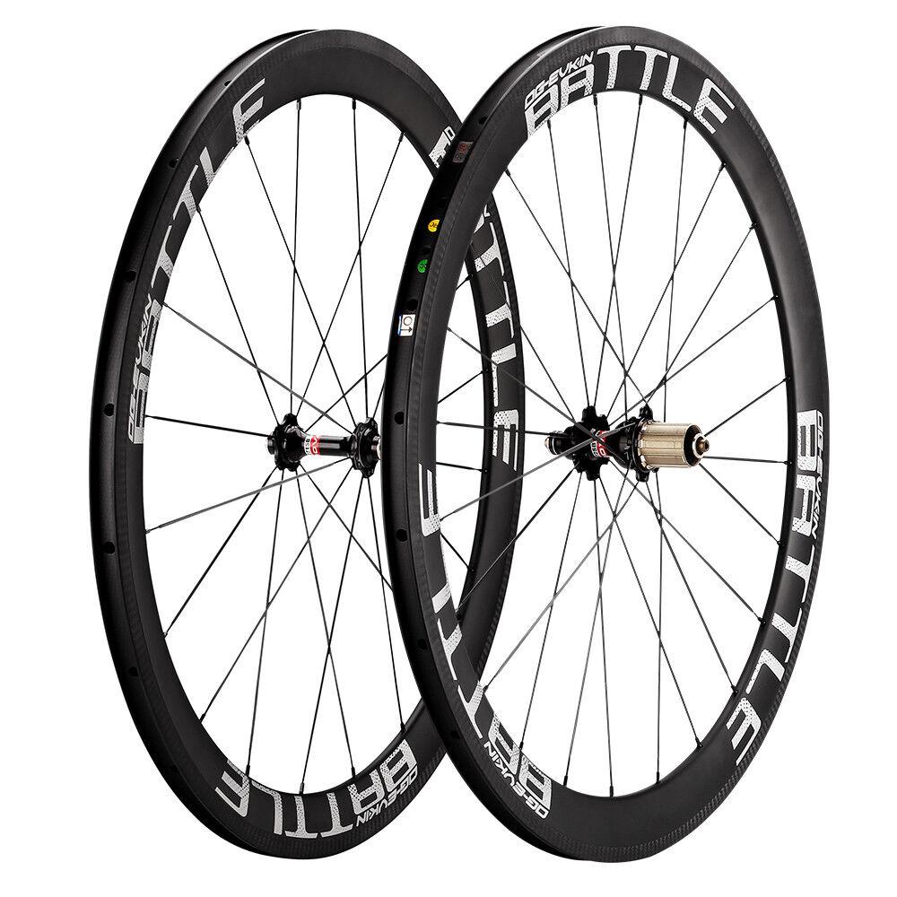 OG-EVKIN 50mm Carbon Road Bike Wheels 25mm Width Clincher Bicycle Wheelset 700C
