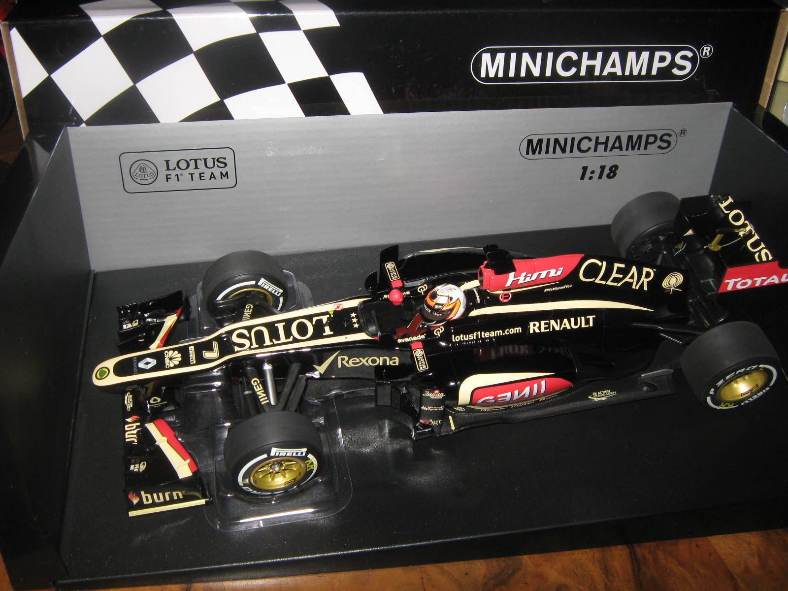 1 18 Lotus Renault e21 K. raikkonen 2013 win Australian gp 110130107 Minichamps