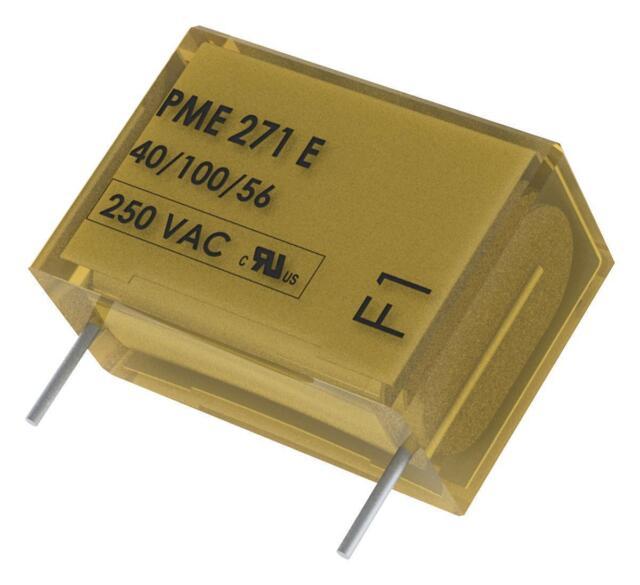 Film Capacitor, 0.22 µF, X1, PME271E Series, 300 V, Paper (MP)