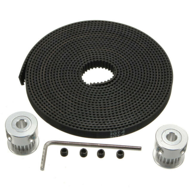 2x GT2 20T Timing Pulleys  GT2 Timing Belt For 3D Printer CNC Reprap Prusa