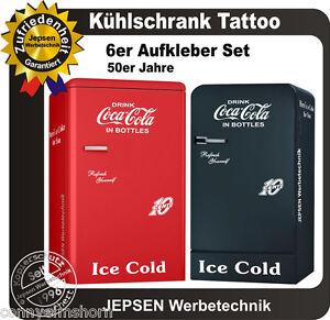 6-teiliges-Coca-Cola-Kuehlschrank-Aufkleber-Set-10-Cent-in-Weiss-glanz