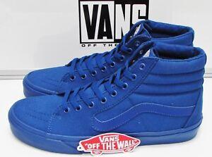 8ce2ce516b88 Vans Sk8-HI (Mono Canvas) True Blue VN-000TS9JJM Men s Size  11