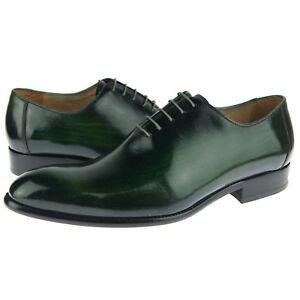 Robe Chaussure Carrucci Chaussures Wholecut Homme Oxford Bout Vert Cuir Plein xgq4SRa