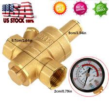 Npt 12 Brass Adjustable Water Pressure Regulator Reducer With Gauge Meter Dn15