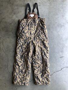 Vintage-Columbia-Delta-Marsh-Camo-Insulated-Hunting-Bibs-Overall-Pants-sz-XL