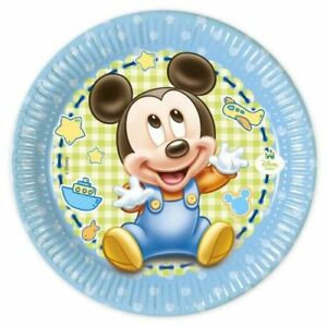 Mickey Baby Partydeko Geburt Oder 1 Geburtstag Disney Deko Junge