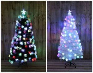 3ft White Christmas Tree.Details About White Green Rainbow Led Fibre Optic Christmas Tree Multi Coloured 3ft 5ft Xmas