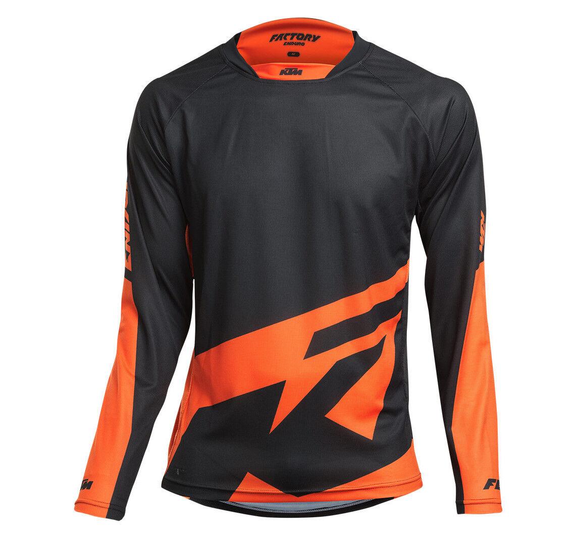 NEU    KTM Shirt langarm Factory Enduro Fahrrad Gr. M Schwarz-Orange Trikot 1db0dd