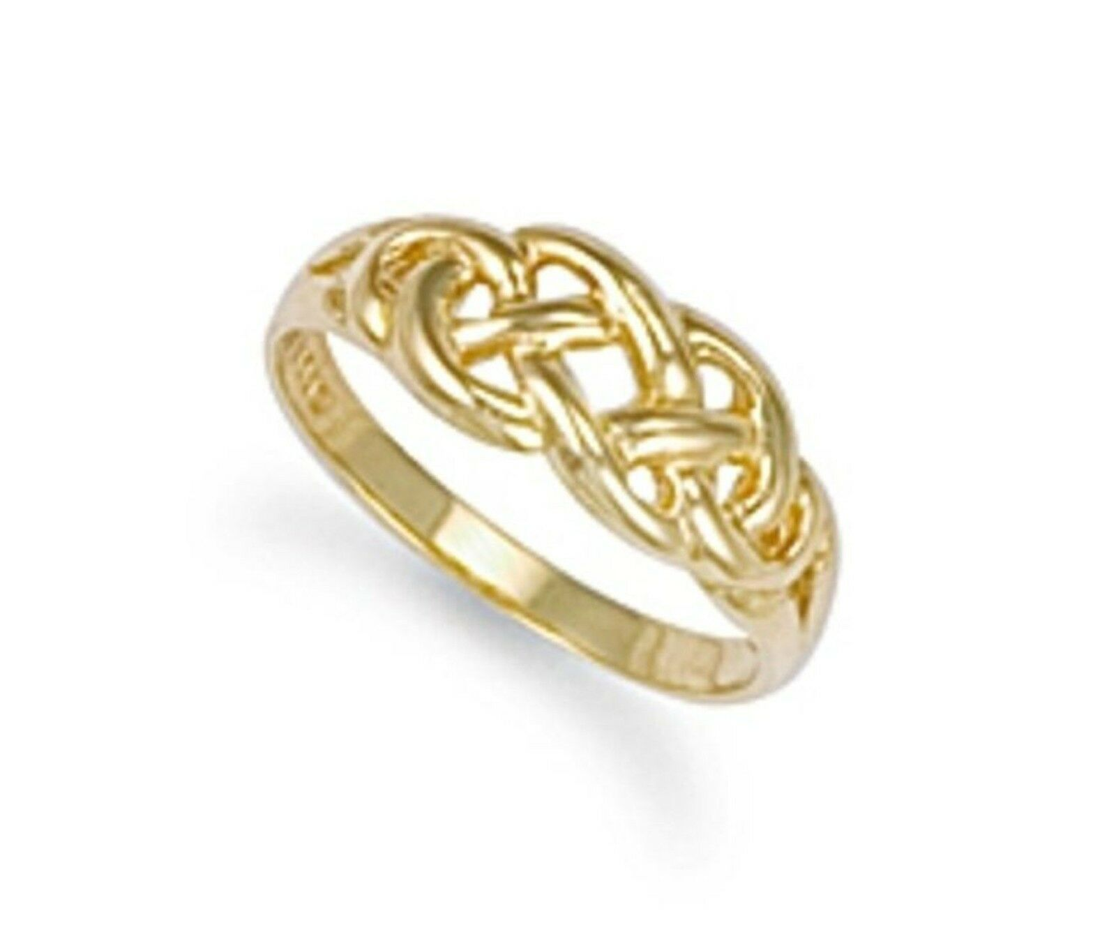 9ct gold Ladies Celtic Knot Ring 2.8g