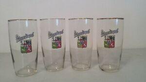 Pilsner-Urquell-12oz-Beer-Glass-SET-OF-4-GOLD-TRIM-Czech-Republic-5-1-2-034-tall