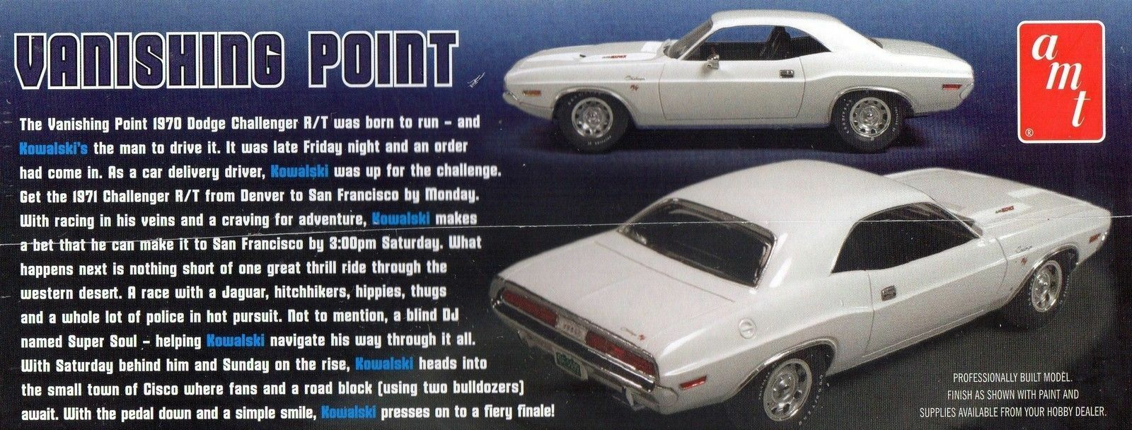 AMT 1 25 MODEL KITS - VANISHING POINT - 1970 1970 1970 DODGE CHARGER R T 3aa2aa