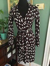 Diane Von Furstenberg Wrap Dress Two Jeanne Size 4