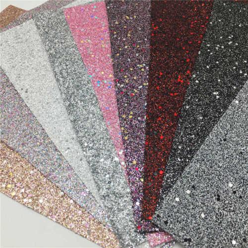 Assorted Pack Glitter Vinyl Fabric Faux Cork Leather Leatherette A4 Sheet Bundle