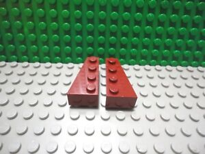 LEGO Lot of 4 Pair of Black 4x2 Space Wing Wedge Plate Pieces Parts