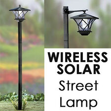 NEW! SOLAR STREET LED LAMP POST - 2 MOUNTS - 5' TALL! SET AT MULTIPLE HEIGHTS