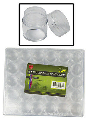 30 in 1 Plastic Storage Container Set Jewelry Beads Findings Craft Parts 87136DB