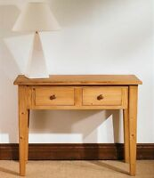 Mottisfont Solid Waxed Pine Furniture Side Console Hall Table