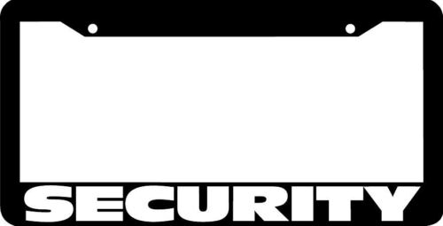 SECURITY vehicle truck security guard License Plate Frame
