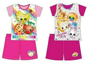 Shopkins Shortie Pyjamas Girls Pjs Kids Short Sleepwear 3-10 Years