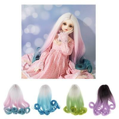 Curly Hair Wig Hairpiece For 1//3 Scale BJD Lolita Doll SD DIY Accs
