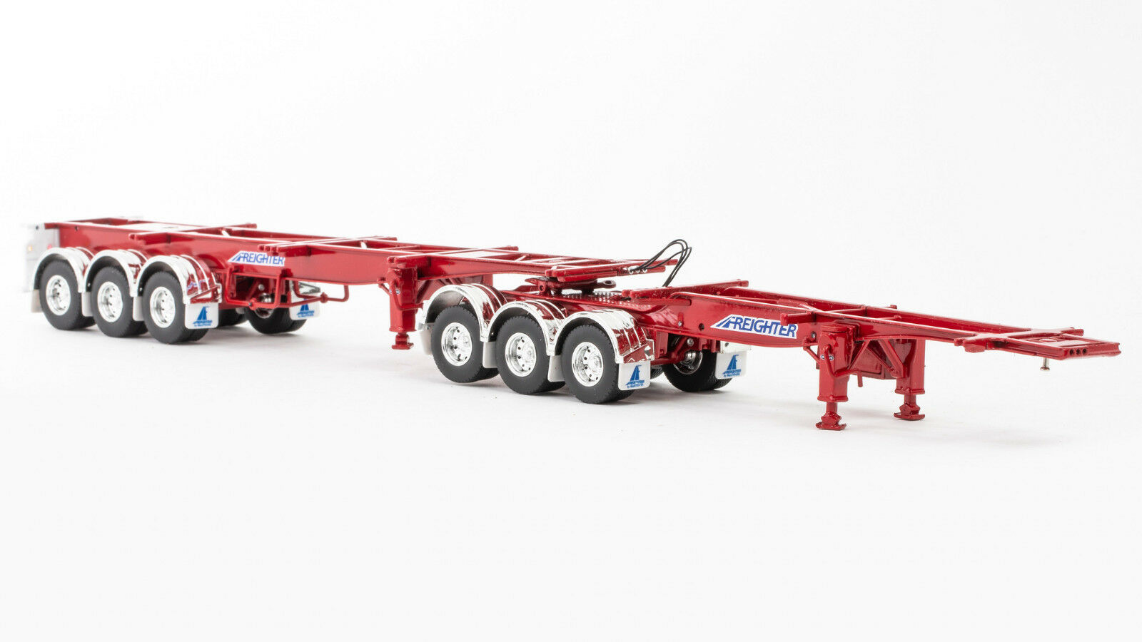 Freighter -Skel B-Double Trailer Set -Red 1 50 Scale By Drake  ZT09154