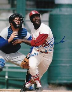 Lou-Brock-8-x10-Autographed-Signed-Photo-Cardinals-HOF-REPRINT