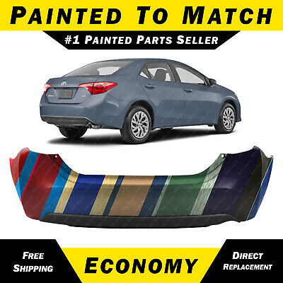 REAR BUMPER TOYOTA COROLLA 2007-2018 TO BE PAINTED