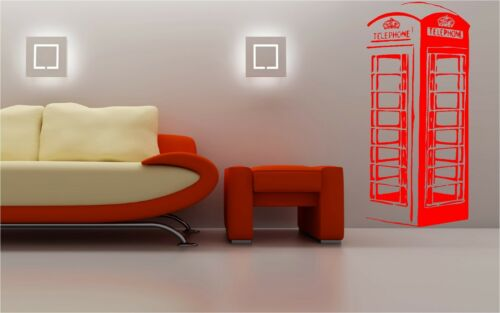 UK RED TELEPHONE BOX Wall Art Sticker
