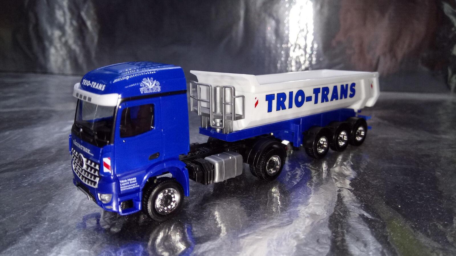 Herpa 306270 Mercedes-Benz Arocs Dump Semitrailer Trio-Trans 1 87 Scale