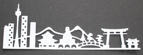 6 Signature Dies Skyscapes /'Kyoto/' die-cuts in black or white card