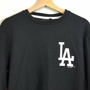 MAJESTIC-Athletic-Mens-Size-M-Black-LA-DODGERS-Crew-Neck-Sweater-Jumper