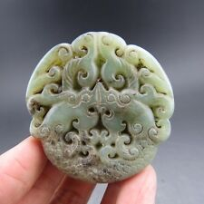 Chinese ,jade, noble collection, manual sculpture, jade, dragon,pendant T67=
