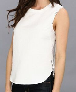 Christiane White bcbg nwt christiane white split back sleeveless woven shirt top