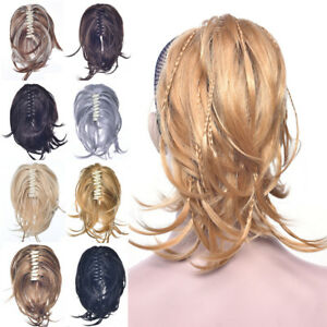 Claw-on-Braided-Ponytail-Bun-Updo-Cover-Hair-Piece-Fake-Hair-Extensions-As-Human