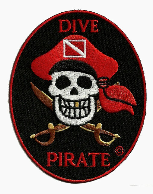 Scuba Diving Embroidered Patch -DIVE PIRATE  ITEM  #GEN2250