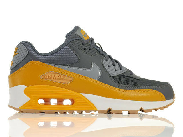 Nike Air Max 90 Essential Dark Grey Stealth Gold New in Box sZ US7,5 EU38,5