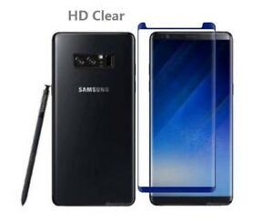 2X Anti Scratch For Samsung Galaxy Note 8 Tempered Glass Screen Protector Blue