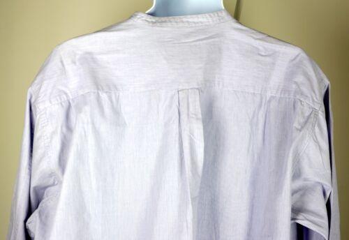 Armani Button Down Blue Authentic Purple Shirt cuello sin L Jeans xxwqHUAZBT