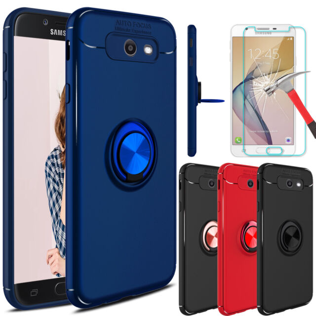 on sale 52348 729d1 For Samsung Galaxy J7 Prime/Sky Pro/2017 Case With Ring Holder+Screen  Protector