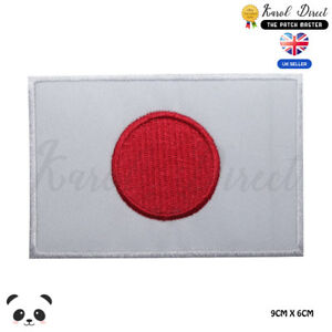 Japan-National-Flag-Embroidered-Iron-On-Sew-On-Patch-Badge-For-Clothes-etc