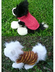 XXS handmade knit dog sweater eBay