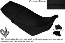 BLACK STITCH CUSTOM FITS YAMAHA DT 125 RE 04-07 DUAL LEATHER SEAT COVER