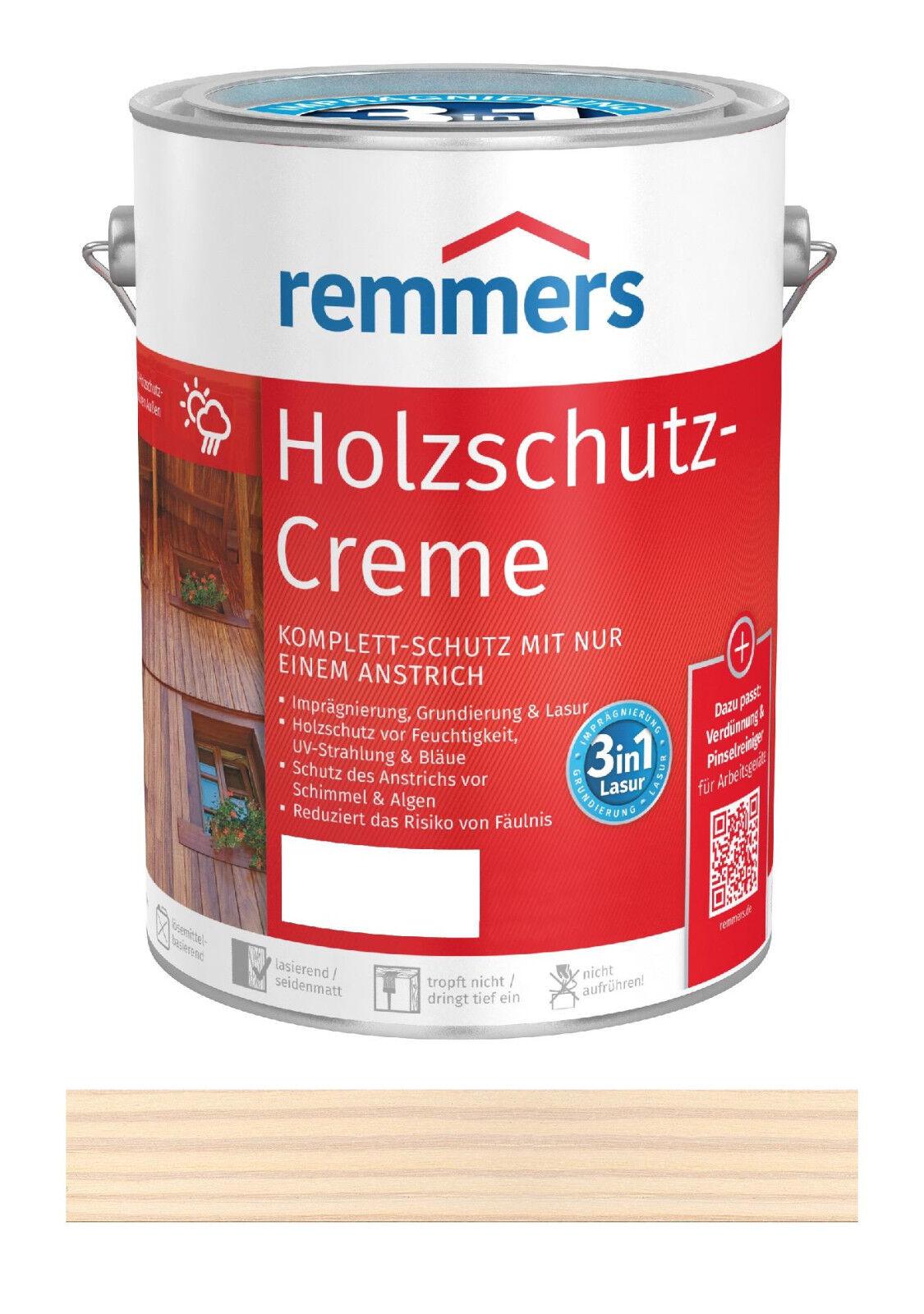 Remmers Holzschutz-Creme Weiß 2,5 Liter Holz Lasur für Außen NEUWARE