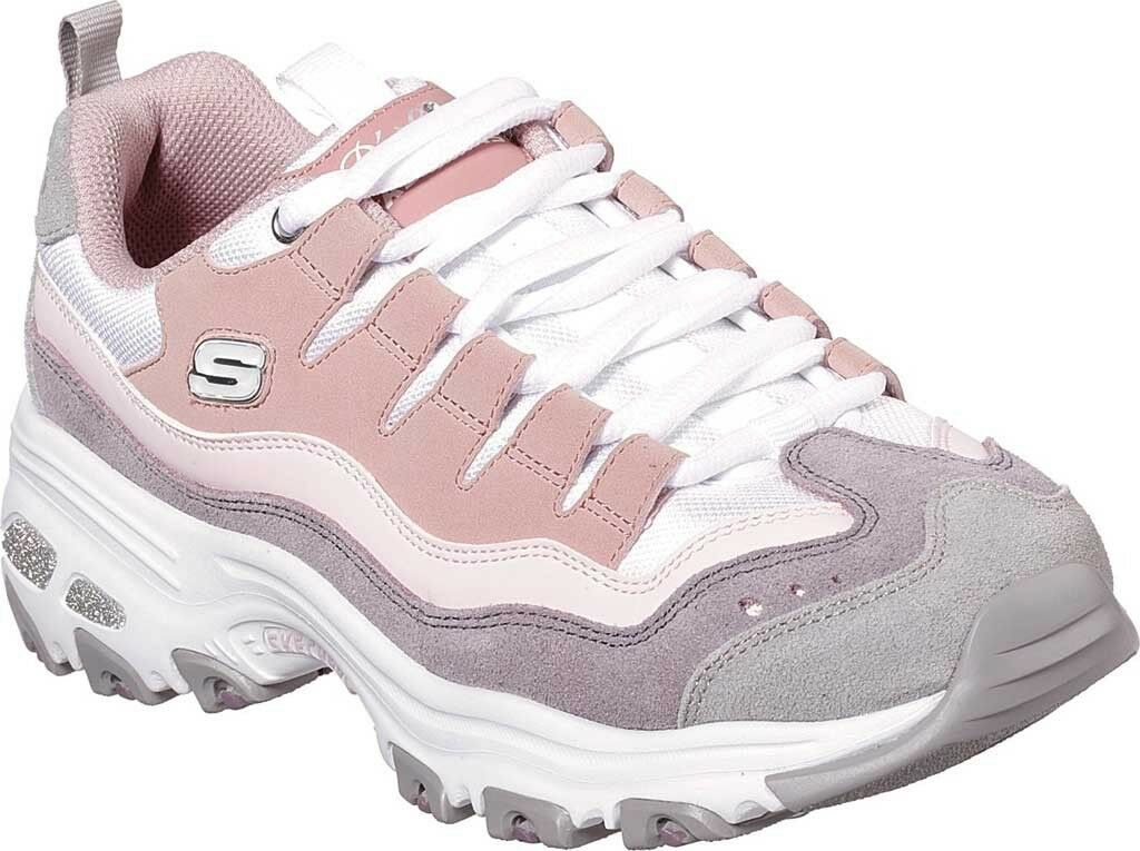 Skechers D'Lites Sure Thing Thing Thing Sneaker (Women's shoes) in Pink   Purple NEW 3403a6