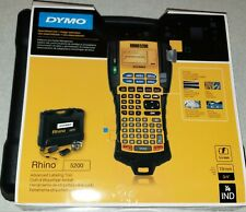 Dymo Rhino 5200hck 5200 Thermal Industrial Label Maker Kit Hard Case Brand New