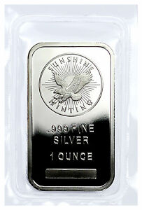 Sunshine Minting Inc 1 Troy Ounce 999 Fine Silver Bar
