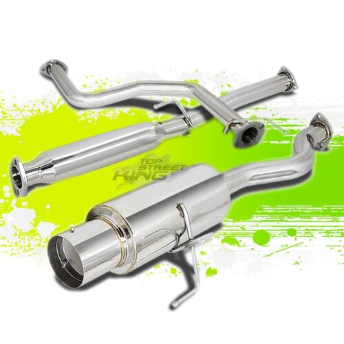"""FOR 96-00 CIVIC HATCHBACK STAINLESS RACING 4.5/"""" TIP CATBACK CAT BACK EXHAUST"""