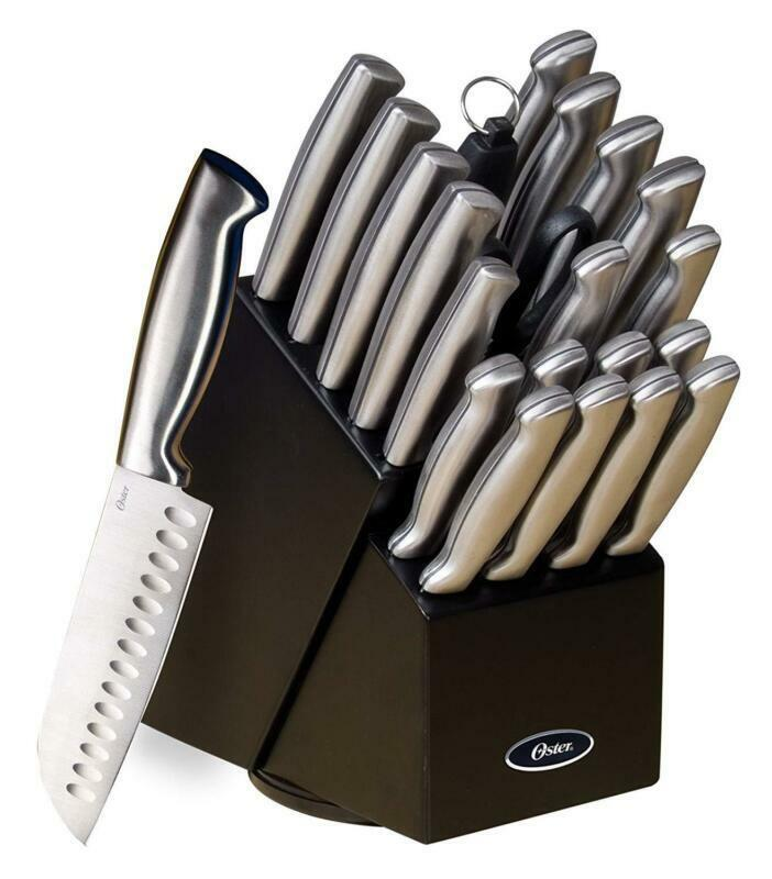 22Pc acier inoxydable Chef Knife Set Combo Cutlery Kitchen Cooking Professional