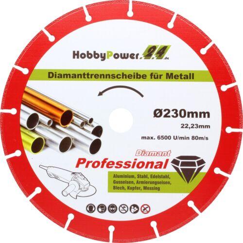 Diamanttrennscheibe 115 125 230mm Metall Eisen Stahl für Winkelschleifer Flex