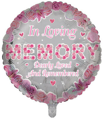 Luxury foil Balloons MUM Round Shape Remembrance Memorial Funeral Balloons